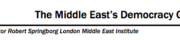 The Middle East's Democracy Gap