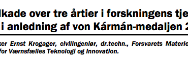 Kavalkade over tre årtier i forskningens tjeneste – i anledning af von Kármán-medaljen 2011