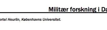 Militær forskning i Danmark