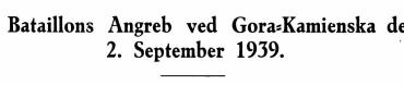 En Bataillons Angreb ved Gora-Kamienska den 2. September 1939