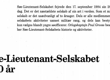 Søe-Lieutenant-Selskabet 200 år