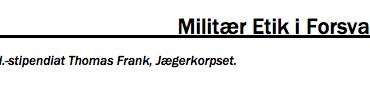 Militær Etik i Forsvaret