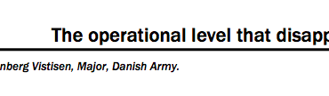 The operational level that disappeared?
