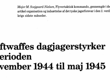 Luftwaffes dagjagerstyrker i perioden november 1944 til maj 1945