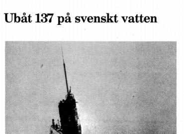 Dokumentation: Ubåt 137 på svenskt vatten