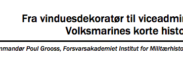 Fra vinduesdekoratør til viceadmiral: Volksmarines korte historie
